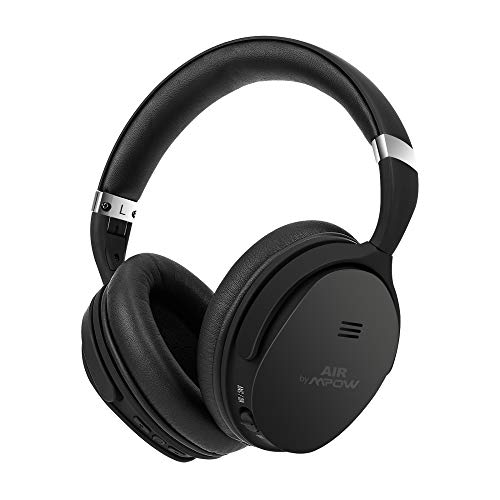 Air by MPOW X4.0J Bluetooth Wireless Noise-Cancelling Headphones Bluetooth 4.1 IPX5 Water-Resistant Black
