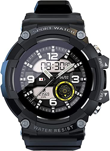 l b s Reloj deportivo inteligente 1.3 pulgadas pantalla táctil completa 4G Netcom SOS llamada de un solo toque 0.3MP cámara, reloj impermeable compatible con Samsung iPhone (Negro) (Negro)