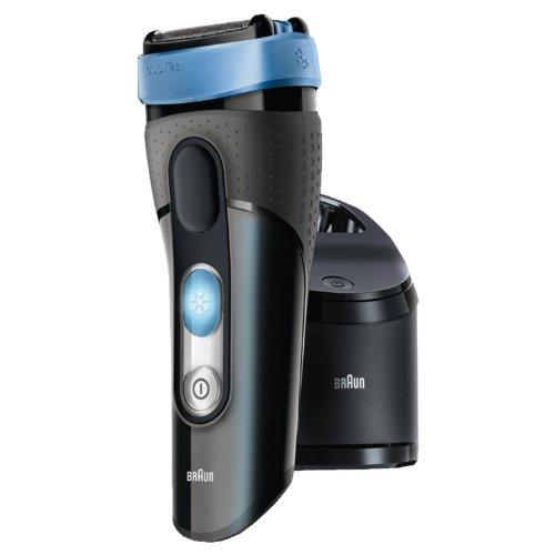 Braun CoolTec CT2 CC Rasoio Trimmer Nero, Blu rasoio elettrico