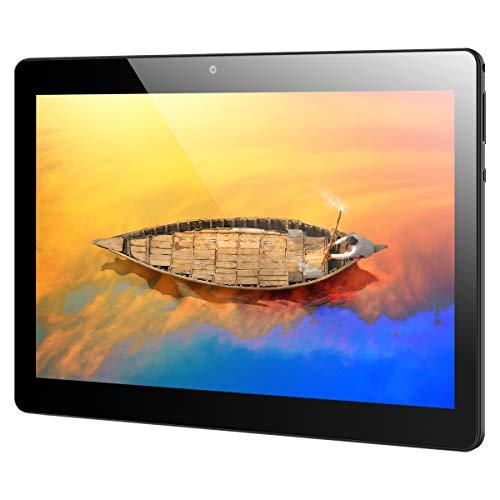 Qimaoo Tablet 10 Zoll, Android 10 Octa Core 4 GB RAM+64 GB ROM, 4G LTE Dual SIM/Kameras, HD (1280 x 800), 6000mAh, WiFi/GPS/BluetoothTablets (Q10)