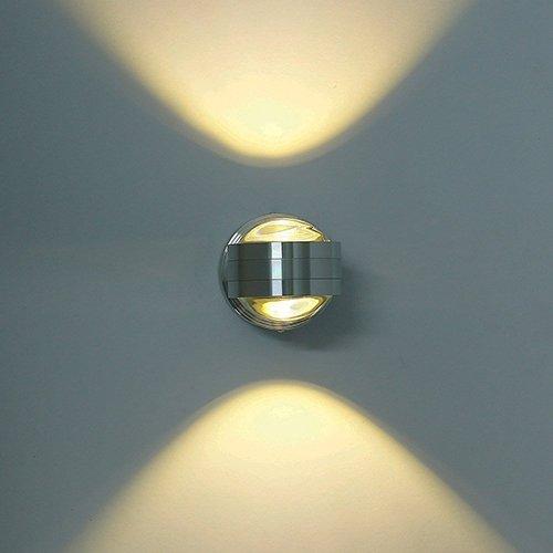 DECKEY Lampada da Parete LED 6W Applique in Alluminio Cristallo da Muro/Corridoio Luce Effetto Bianco Caldo Illuminazione Interno