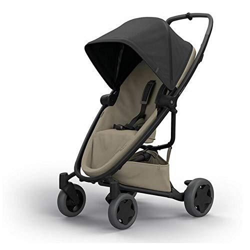 Quinny Quinny Zapp Flex Plus, Passeggino Leggero e Compatto, reversibile fronte strada e fronte mamma, reclinabile, 4 ruote grandi, colore Black on Sand