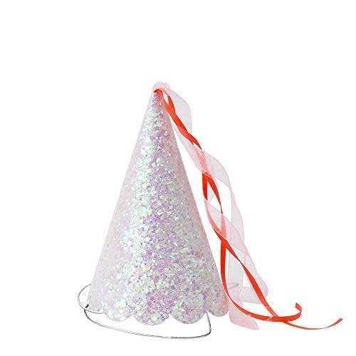 Fantastic Prices! Meri Meri Magical Princess Party Hats - Pack of 8 - Pink & Neon Coral Tassels with...