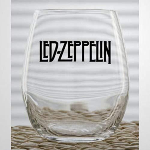 Vaso de vino sin tallo de cristal Led Zeppelin, vaso de chupito...