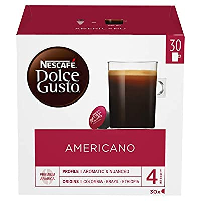NESCAFÉ Dolce Gusto Americano Coffee Pods, 30 Capsules (90 Servings, Pack of 3, Total 90 Capsules)
