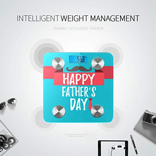 LYAOE Bluetooth Body Fat Scale Happy Fathers Day Banner Giftcard Best Smart Wireless Scale with LCD Display Measuring Body Weight Bmi and Health Digital Scale