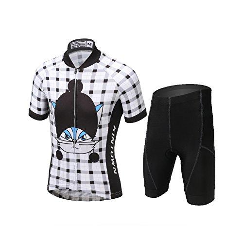LPATTERN Niños Niñas Traje de Ciclismo Conjunto de Maillot y Pantalones Cortos...