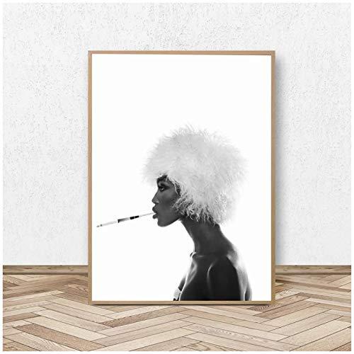 wzgsffs Póster De Moda De Naomi Campbell, Arte De Pared, Mujer Negra...