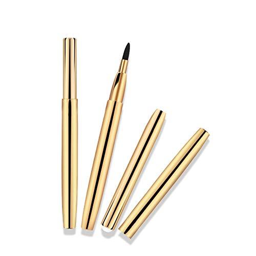 NCTM Maquillage télescopique Portable Brosse Simple Rouge à lèvres Brosse Contour des lèvres Ligne Uniforme Or Argent Couleur aléatoire