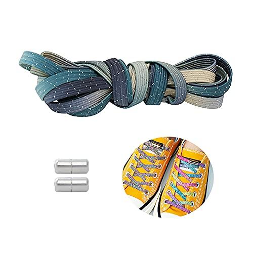 Nessun Leghetto per Bambini/Adulti, Blocco Lacci per Scarpe da Ginnastica da Corsa Atletiche(Size:100cm,Color:D)