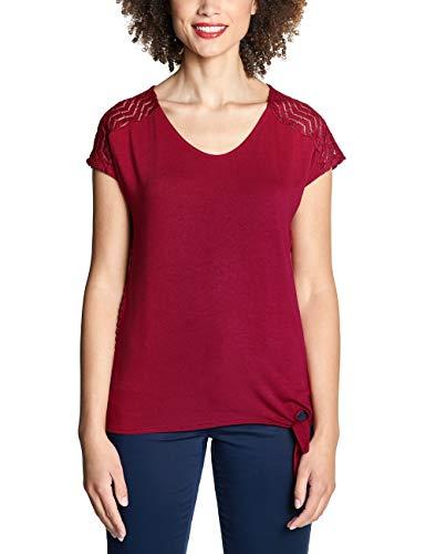 Street One Damen 313655 Femke T-Shirt, Wine red, (Herstellergröße:38)