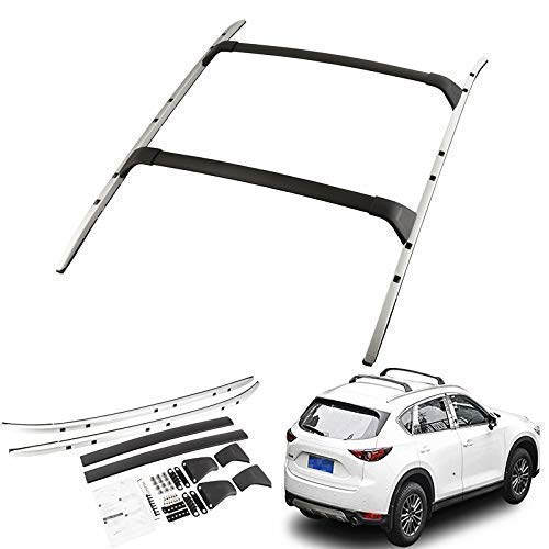 Tuntrol Roof Rack 4PCS Roof Rail + Cross Bar for Mazda CX-5...