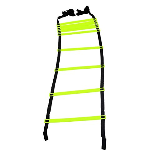 GSI Speed Agility Ladder 4M 10-RUNG Track and Field Equipment for Sports Training and Soccer Football Tennis Baseball Drills (10 Rungs) (Pack of 1)