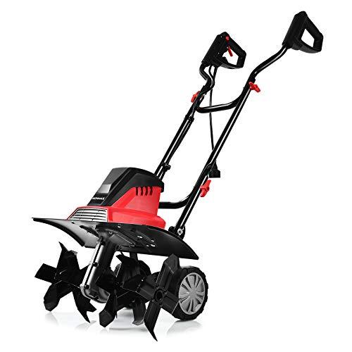 COSTWAY Motoazada Eléctrica Ancho de Trabajo de 43cm /6 Cuchillas /1500W / Profundidad de Trabajo de 22cm / 400 RPM para Jardín