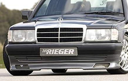 Rieger Frontal Alerón Labio Negro Mate para Mercedes Benz 190 (W201)