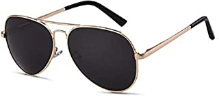 GIFIORE - Gafas de sol polarizadas para hombre, 62 mm, doble bridge, gafas de aviador 100% protección UV400, gafas de aviador 2020 Trend