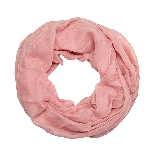 MANUMAR Bufanda de lazo para mujer lisa | bufanda de cuello fino en colores lisos como accesorio perfecto para el otoño y el invierno | Bufanda tubular | bufanda redonda | idea para regalar