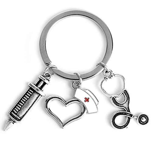 Nurse Key Chain - YUESEN Novedad Colgante Llavero De Metal,...
