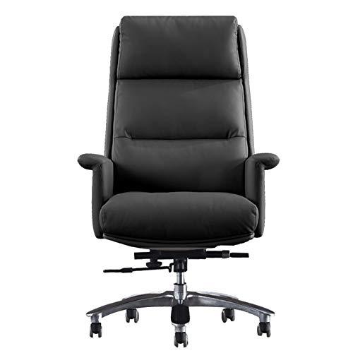 ZXN RTU Relax Sillas de oficina cómodas y seguras sillas de oficina, sillas de escritorio de oficina en casa, silla de cuero ergonómica tradicional de respaldo alto