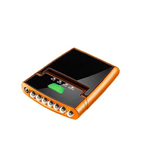 Rechargeable LED Lampe Frontale avec Lampe De Poche, Détecteur De Mouvement Grand Phare Étanche pour Courir Camping Randonnée Pêche d'orange 1pc