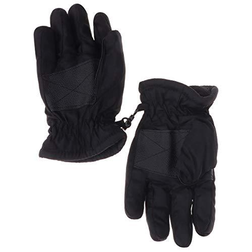 Kinder Handschuhe wasserdichte Winddichte Winterhandschuhe Fäustlinge Geeignet für 1-3 Jahre Mädchen und Jungen (Schwarz)