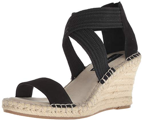 Price comparison product image STEVEN by Steve Madden Women's Excited Espadrille Wedge Sandal,  Black / Multi,  7.5 M US