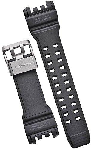 Casio GPW-1000– 1 cinturino di ricambio nero con inserto in fibra di carbonio