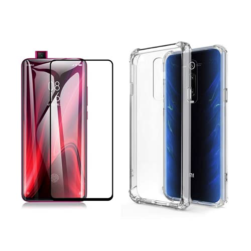 "Capa Anti Shock Compatível Transparente + Película Vidro 3D 9D Xiaomi Mi9t Mi9t Pro 6.39"""