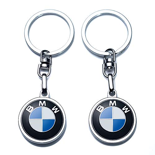 Car Logo Keychain Replacement for BMW Key Chain Accessories Keyring 2 pack