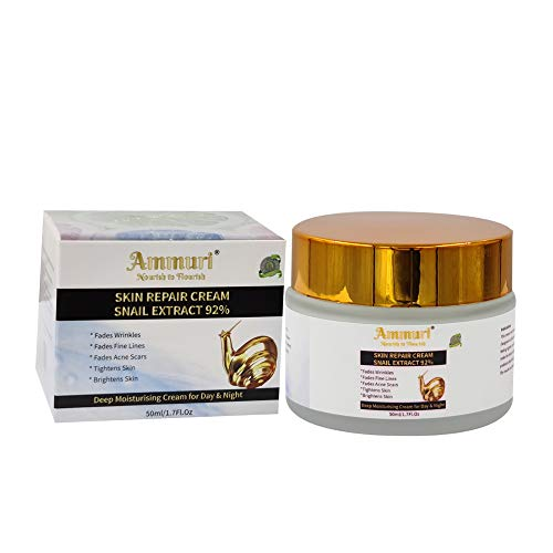 Snail Extract Moisturiser cream for Face & Body with Hyaluronic Acid, Ginseng Stem Extract & Witch Hazel. Intensely Concentrated Regenerating Day & Night Cream