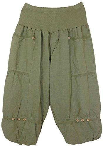 Dames 3/4 broek / linnen broek van luchtig linnen, MADE IN ITALY