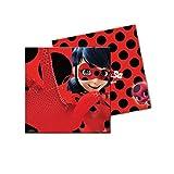 Ladybug Lot de 20 serviettes de table 33 x 33 cm