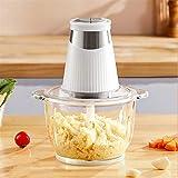 YXIAOJ Picadora de Carne 1.8L Mini trituradora for la Carne, Verduras, Frutas y nueces, Espesado el Bol de Vidrio Robot de cocina-250W (Size : Type C 1.8L)