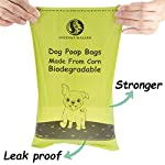 Greener Walker Poo Bags for Dog Waste, 360 Poop Bags,Extra Thick Strong 100% Leak Proof Biodegradable Dog Poo Bags (Brown) 10