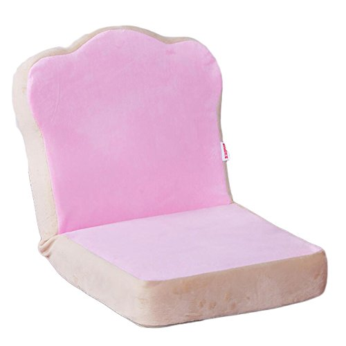 Cubierta De Lino,Silla De Piso Lazy Sofa Single Folding Dorm Bed Respaldo Silla Dormitorio Bay Window Pequeño Sofá Cute Mini (Color : Pink)