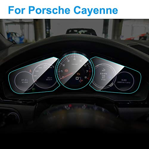 XIANGSHAN Auto-Instrumententafel-Schirm-Schutz for Porsche Cayenne Interieur Auto-Armaturenbrett Membrane Protective TPU Film Zubehör (Color Name : 1pc)