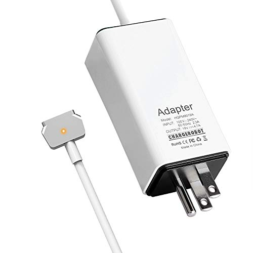Wakeach 85W Mini Charger for Macbook Pro Retina 15 inch ( Mid 2012-Mid 2015) T-tip Magnetic Magsafe 2 Power Supply Adapter mbp A1398 A1424 Charger Portable Travel Wall Laptop Charger