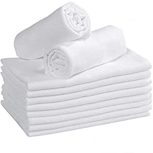 Yoofoss Muselinas Bebe Paño Muselinas, Manta Muselinas de Algodon Organico 100% (10 unidades con 3 Capas -35x50cm)