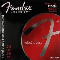 【 並行輸入品 】 Fender (フェンダー) エレクトリックベースギター Nickelplated Steel Super エレキベース Long Scale 34 , .045 - .105, 725
