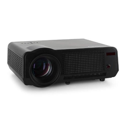Klarstein LCDP-HD-B HD-Beamer anschlussfreudiger LED-Beamer (HDMI, USB, VGA, 1080p Full HD) schwarz