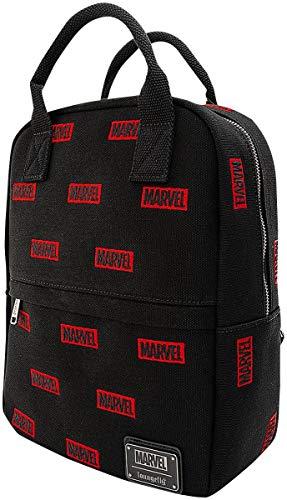 Loungefly Marvel Marvel Logo Unisex Mini Mochilas Multicolor, Lienzo,