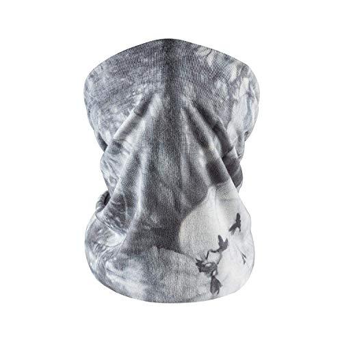 Face Masks Washable,Neck Gaiter Scarf Tie Dye Lightweight Bandana Face Covering Breathable Balaclava Grey