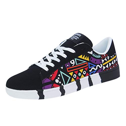 Beikoard Herren Schuhe Segeltuchschuhe Turnschuhe Casual Laufschuhe Sneakers Farbe für Segeltuchschuhe Sportschuhe Graffiti Schuhe
