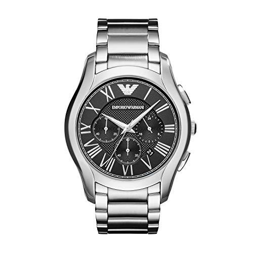 Emporio Armani Herren Chronograph Quarz Uhr mit Edelstahl Armband AR11083