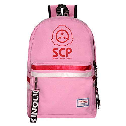 JESU School backpack for teen girls, Commuter Bag Casual Hiking Daypack, with Front and Side Pockets, Durable Lightweight,Pink2