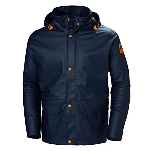 Helly-Hansen Men s Workwear Gale Rain Jacket, Navy - Medium