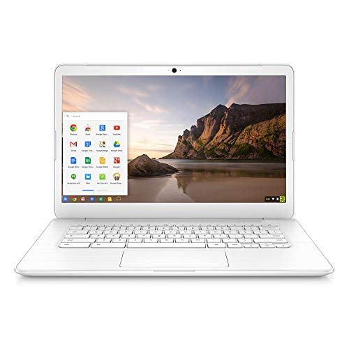 Used Good Chromebook 14 SMB Lightweight Laptop Computer for Business or Education 14 inches with Intel Celeron N2955U, 4GB RAM 16GB eMMC SSD Chrome OS Online Class Ready - White