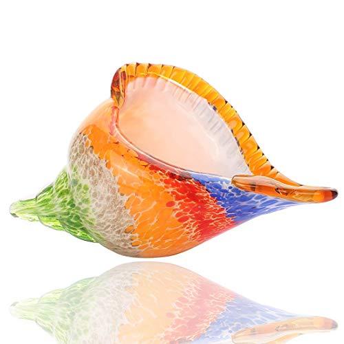 FTFTO Equipo de Vida Arco Iris Murano Arte de Vidrio Concha Marina Vidrio soplado a Mano Concha Estatuilla Pisapapeles Escultura Decoración del hogar Adorno de Boda