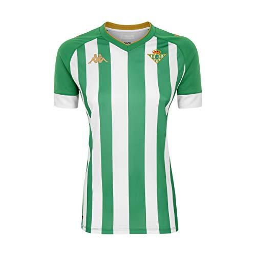 Kappa Primera Equipación Camiseta, Mujer, Verde/Blanco/Oro, S