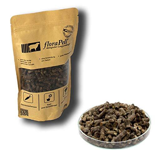FloraPell® Bio Schafwollpellets Dünger für Haus, Garten & Zimmerpflanzen - Das Original aus 100% Schafwolle - Organischer Langzeitdünger für ideale Nährstoffversorgung (450g)